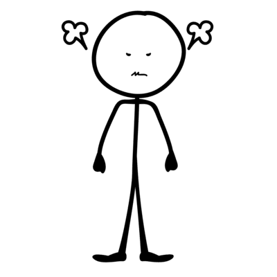 stick figure angry