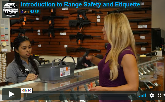 NSSF video screenshop range safety - Being Safe on the Firing Range is Important, But Don't Forget to Choose a Good Gun Safe to Protect Your Family at Home