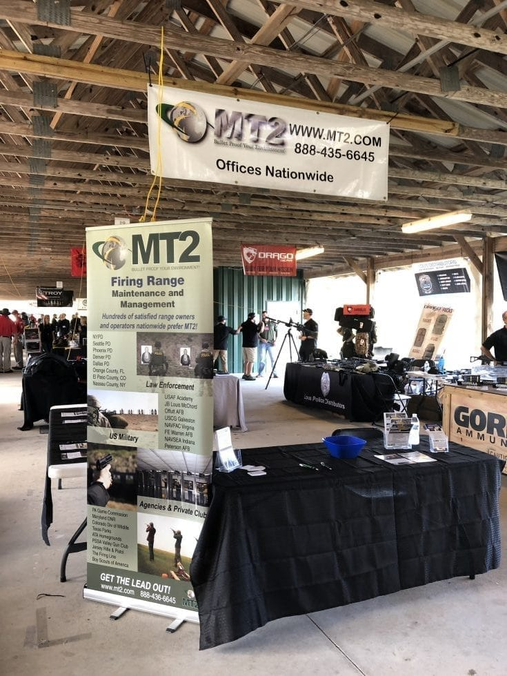 MT2 Firing Range Services attends the 2018 SWAT Round-Up meeting with Law Enforcement needing the best lead maintenance contractor